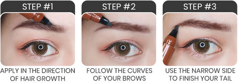 Microblading Eyebrows Pencil How to use