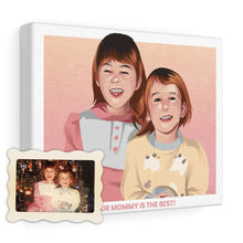 Load image into Gallery viewer, Family Time Custom Illustrated Canvas - Print My Portrait