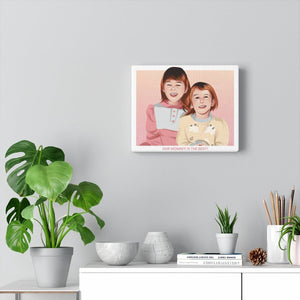 Family Time Custom Illustrated Canvas - Print My Portrait