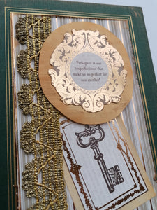 "Jurnal Handmade cu Aspect Vintage ""Perfect for One Another"""