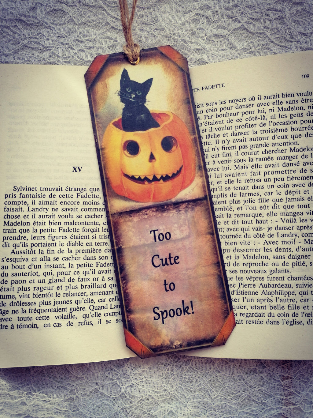 "Semn de Carte Halloween ""Too Cute to Spook!"""