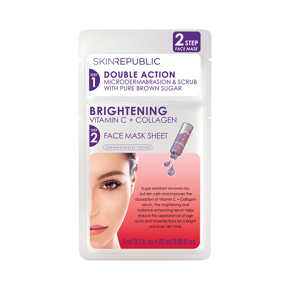 SKIN REPUBLIC 2 Step Brightening Vitamin C Face Mask SKIN REPUBLIC