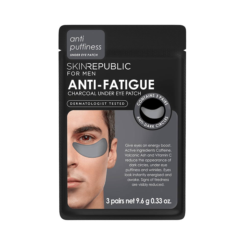 SKIN REPUBLIC Anti-Fatigue Charcoal Under Eye Patch for Men (3 Pairs) SKIN REPUBLIC