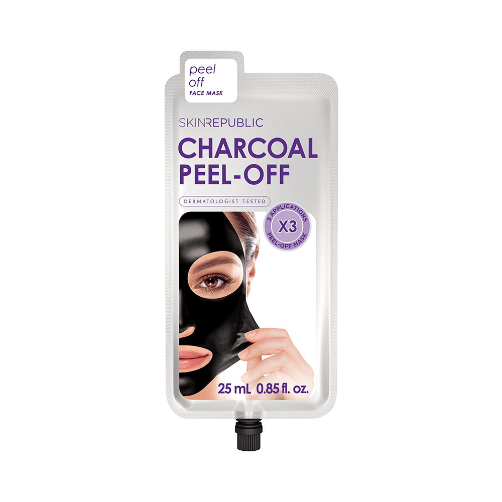 SKIN REPUBLIC Charcoal Peel-Off Face Mask (3 Applications) SKIN REPUBLIC