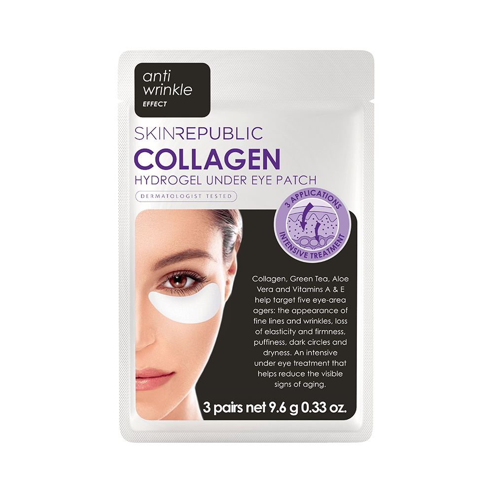 SKIN REPUBLIC Collagen Hydrogel Under Eye Patch (3 Pairs) SKIN REPUBLIC