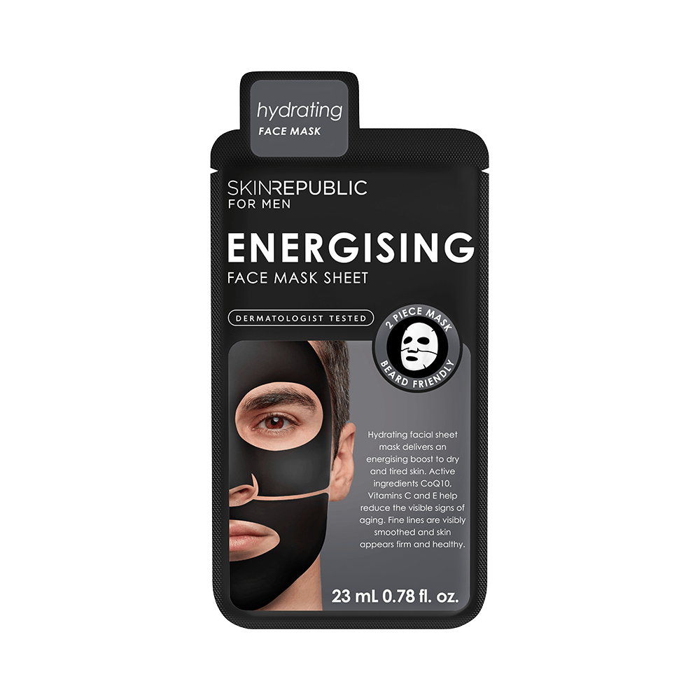 SKIN REPUBLIC Energising Face Mask Sheet for Men SKIN REPUBLIC