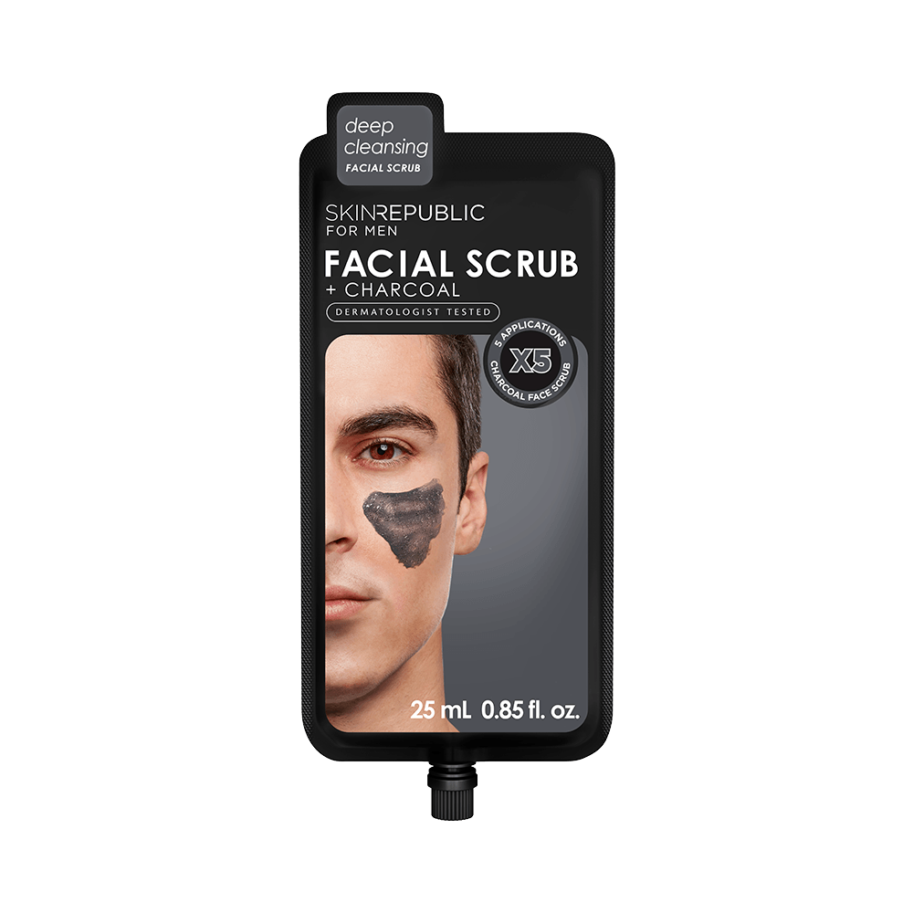 SKIN REPUBLIC Facial Scrub + Charcoal for Men (5 Applications) SKIN REPUBLIC