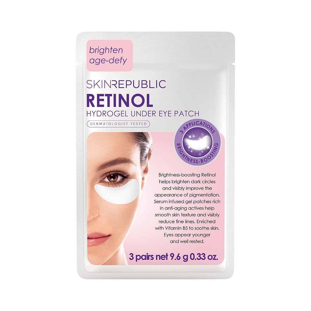 SKIN REPUBLIC Retinol Hydrogel Under Eye Patch (3 Pairs) SKIN REPUBLIC