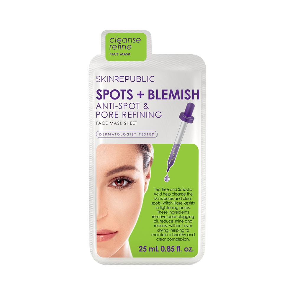 SKIN REPUBLIC Spots + Blemish Face Mask Sheet SKIN REPUBLIC