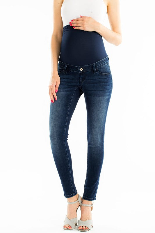 Dark Maternity Jeans - Catching Fireflies Boutique