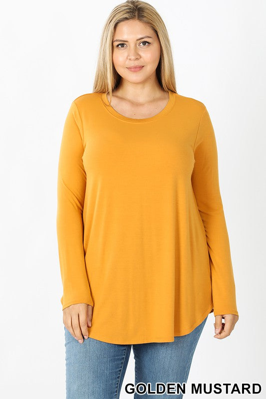 Golden Mustard Plus Long Sleeve