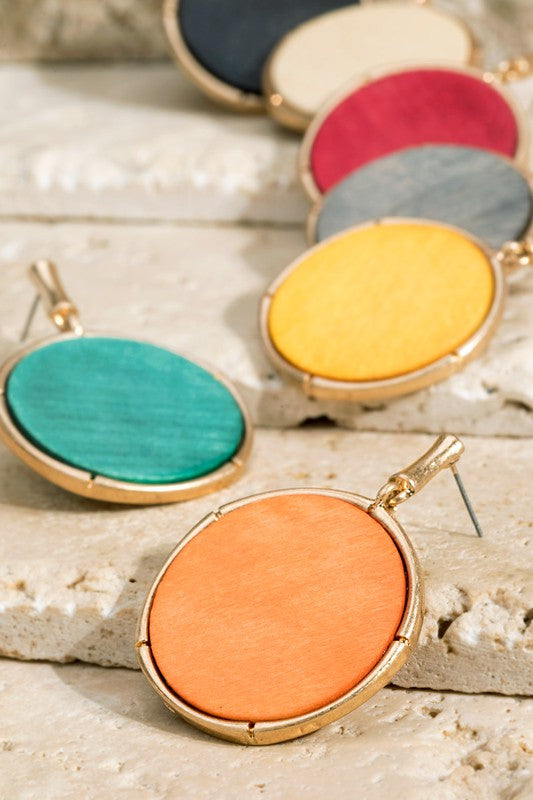Bamboo Wooden Circle Earrings - Catching Fireflies Boutique