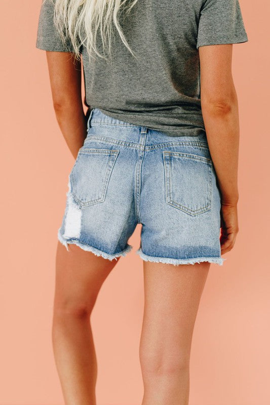 Whitney Distressed Shorts - Catching Fireflies Boutique