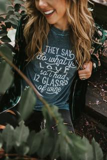 Do What You Love Bleached Graphic Tee - Catching Fireflies Boutique