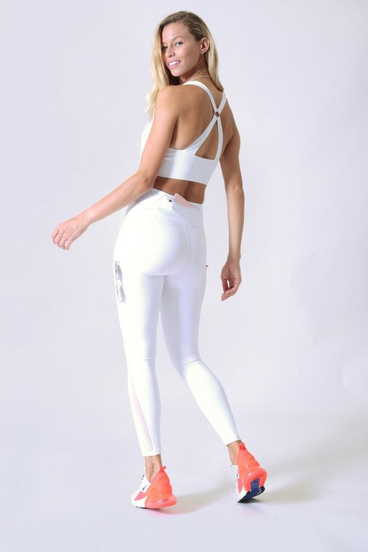 Back At It Again White Multi-Pocket Leggings - Catching Fireflies Boutique