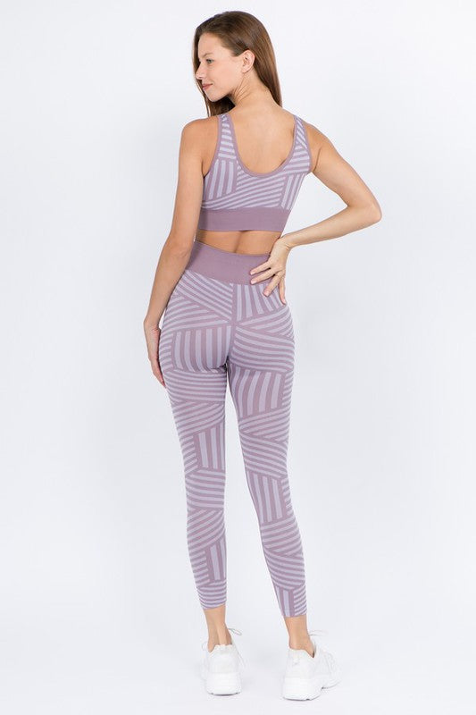 Stripes For Days Smoky Mauve Leggings - Catching Fireflies Boutique