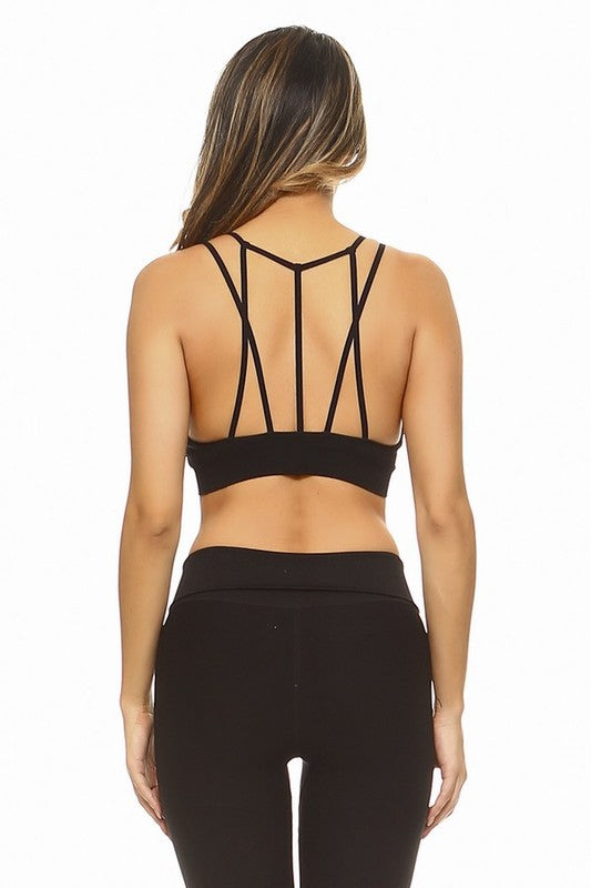 Oh So Strappy Black Sports Bra - Catching Fireflies Boutique