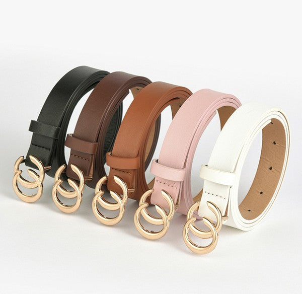 Kimmy Leather Accent Belt