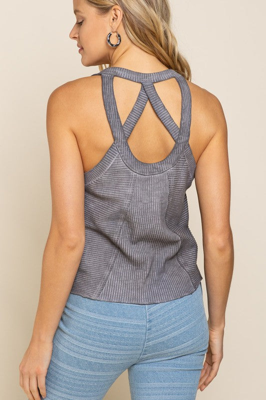 Last Chance Grey Tank - Catching Fireflies Boutique