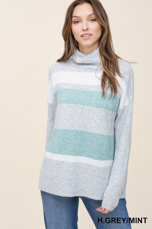 Heather Grey Plus Knit Loose Sweater
