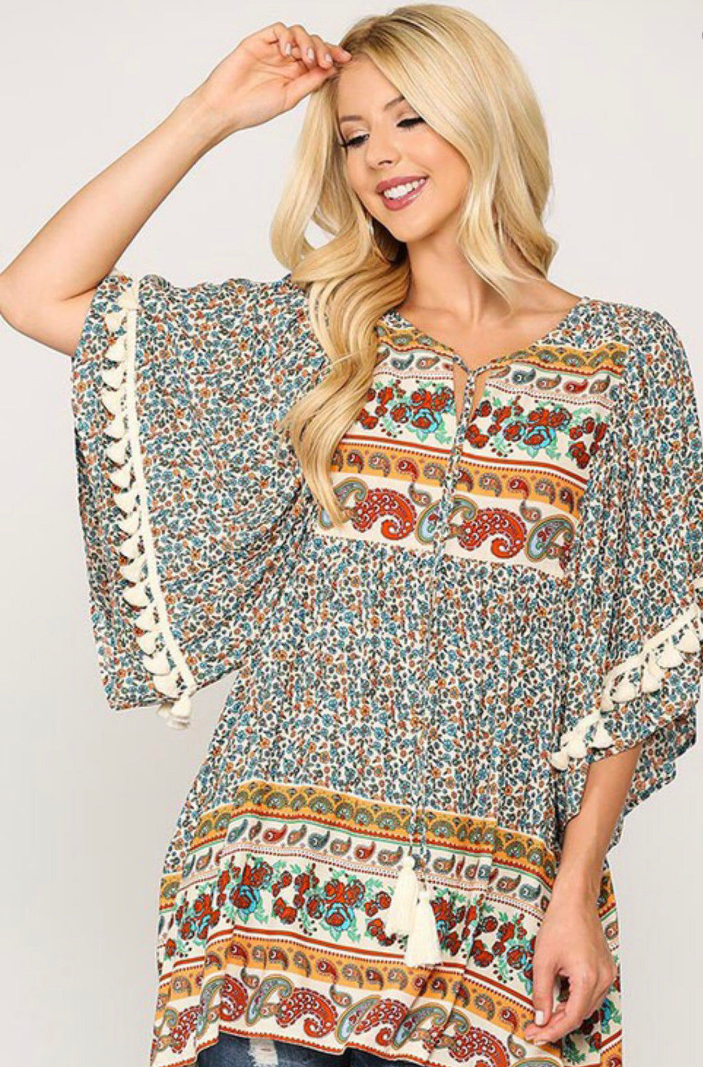 Flirty Flirt Plus Blouse - Catching Fireflies Boutique