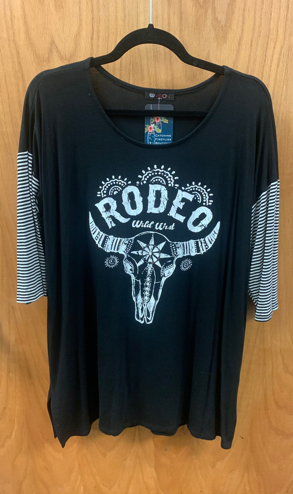 Black Plus Rodeo Cowhead Print - Catching Fireflies Boutique
