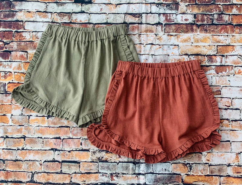 Ruffle Me Up Cute Shorts - Catching Fireflies Boutique