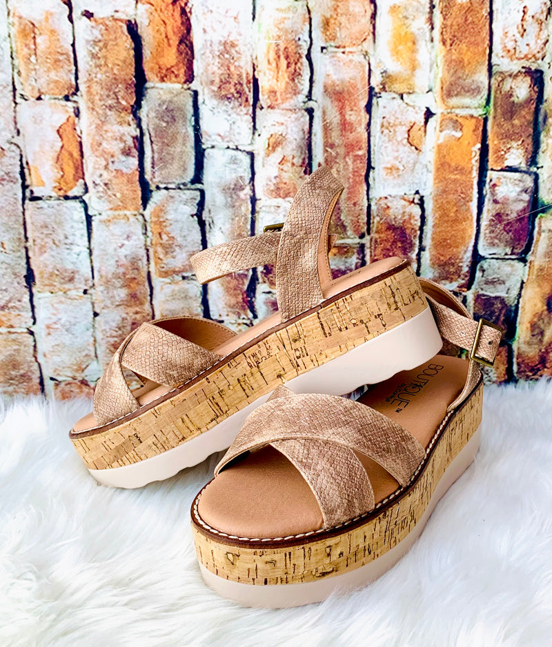Morgan Cork Bronze Wedge - Catching Fireflies Boutique