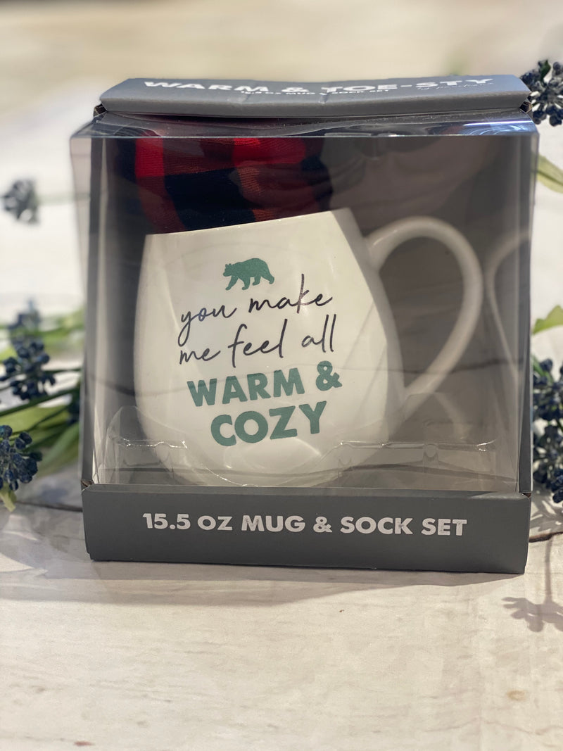 Warm & Cozy Mug and Sock Set - Catching Fireflies Boutique