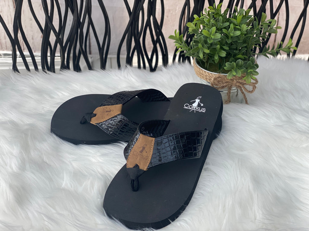 Brittany Slip It On Flip Flop Shoes - Catching Fireflies Boutique