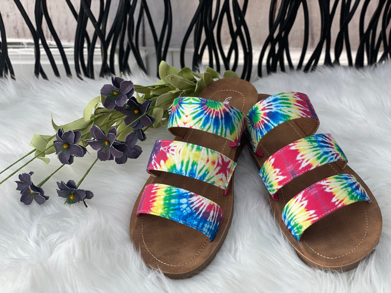 Rainbows & Sunshine Sandals - Catching Fireflies Boutique