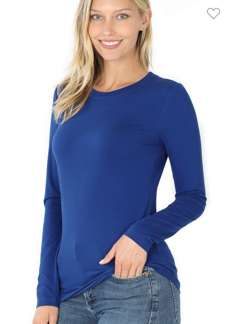 Blue Microfiber Long Sleeve