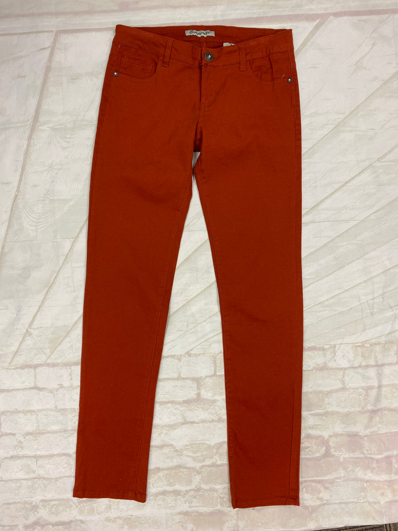 Rust Mid Rise Skinny Jeans - Catching Fireflies Boutique