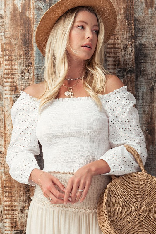 Lovin' Summer White Top - Catching Fireflies Boutique