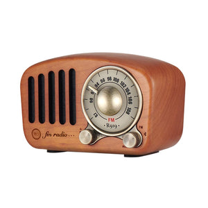 Vintage Radio Retro Bluetooth Speaker - Wooden Fm Radio Classic Style, Strong Bass Enhancement, Loud Volume, Supports Aux Tf C