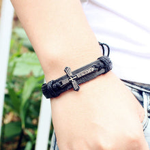 Load image into Gallery viewer, Bohemian Cross Leather Bracelet