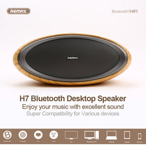 ZEPPELIN NFC Speaker Subwoofer Vibration 2 Tracks 3D Wooden Cover Desktop Wireless Oval Shape Modern Fashion