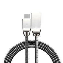 Load image into Gallery viewer, Premium 1m Metal Alloy Fast Charging Micro USB Cable for iPhone 5 6 7 8 Plus X Charge Cables for Samsung Huawei Android Type-C 4