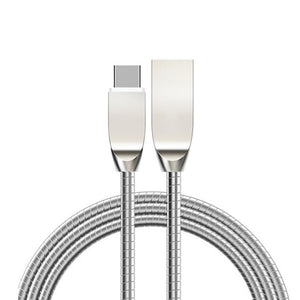 Premium 1m Metal Alloy Fast Charging Micro USB Cable for iPhone 5 6 7 8 Plus X Charge Cables for Samsung Huawei Android Type-C 4