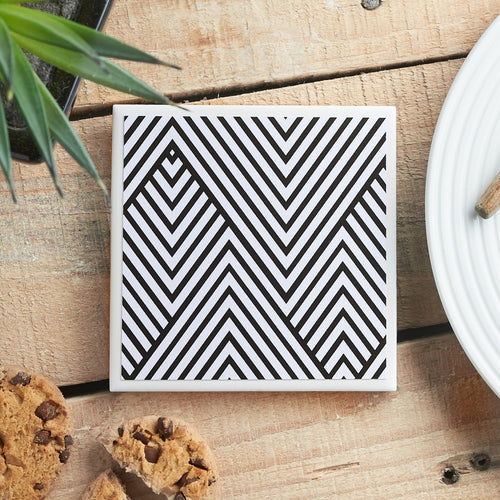 Monochrome Chevron <br> Coaster