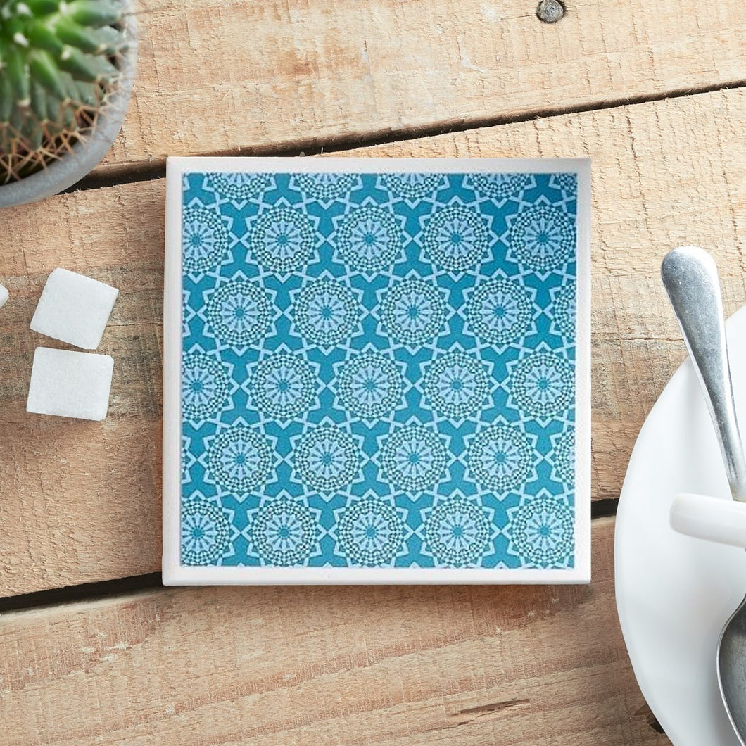 Teal Lace <br> Coaster