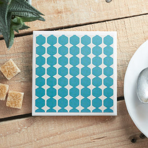 Teal Geometric <br> Coaster