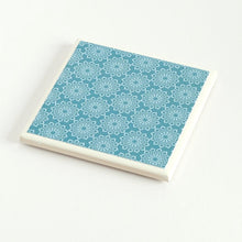 Load image into Gallery viewer, Teal Lace <br> Coaster Set