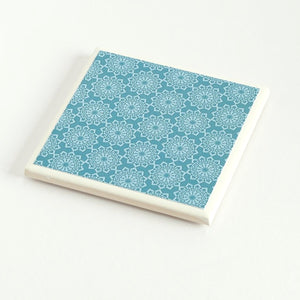 Teal Lace <br> Coaster Set