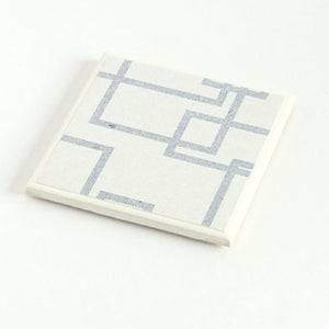 Denim Geometric <br> Coaster Set