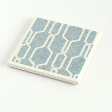 Load image into Gallery viewer, Denim Geometric <br> Coaster Set
