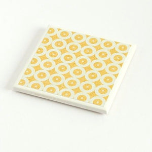Denim Yellow Circle<br> Coaster