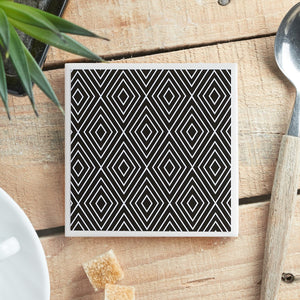 Monochrome Large Diamond <br> Coaster