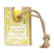 Load image into Gallery viewer, Agnes & Cat Soap on a Rope - Fresh Citrus
