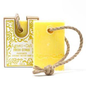 Agnes & Cat Soap on a Rope - Fresh Citrus